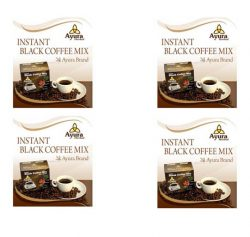 4 – Instant black coffee Ayura herbal cu stevia
