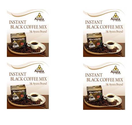 Instant black coffee Ayura herbal cu stevia